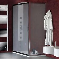 Box doccia 150x80 porta scorrevole con parete fissa laterale alluminio cromato