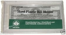 Unitrade Hard Plastic Bill Holder, Currency Paper Money Collection, Medium size