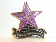 "HOLLYWOOD STAR WALK OF FAME SOUVENIR GLITTERY SPARKLE MAGNET 2"" BY 1.5"" PINK"