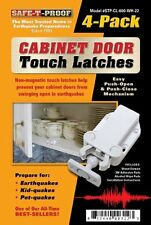 Safe-T-Proof Cabinet Door Touch Latches, White, 4-Pack , New, Free Shipping