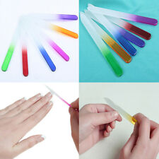 Durable Crystal Glass Nail Art Buffer Files Pro File Manicure Device Tool ONE