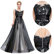 UK Size 16  Vintage 50s Evening Dress Prom Party Retro Long Wedding Formal Dress