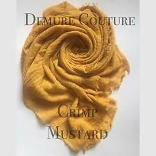 Crimp Frayed Edges Maxi Scarves Hijabs 39 Colours Available Shawls Cotton Mix
