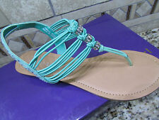 NEW STEVE MADDEN MADDEN GIRL THRILL STRAPPY SANDALS WOMENS 8.5 MINT GREEN FREE S