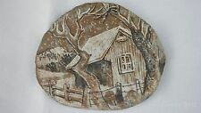 Barn Picture Engraved Roofing Tile Slate Plaque Ed And Muriel Rice Unique