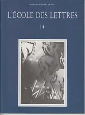 COLLECTIF / L'ECOLE DES LETTRES, 14 - Second cycle - 15 Mai 1997