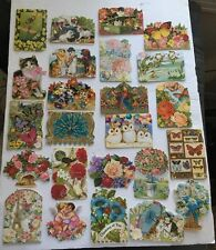 NEW Set 24 Punch Studio Assorted Flower Note Cards Dogs Cats Owl Angel Die Cut
