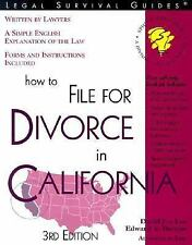 Legal Survival Guides: How to File for Divorce in California by David Jon Lee...