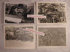 4 x vieille photo usine travail industrie usine Kabelwerk Neustadt (Coburg)