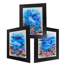 3 Dimension 3D Lenticular Picture Seaworld Ocean Sea Dolphin Tropical Fish Coral