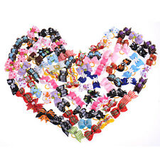 10pcs Dog hair Bows Valentine Rubber Band Grooming Accessories Mixed Style Puppy
