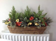 Artificial Pansy Window Box 23X7 Inches