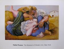 PABLO PICASSO Plate Signed Lithograph SLEEPING PEASANTS