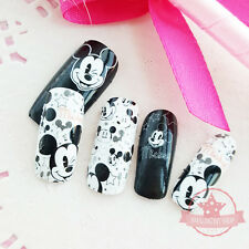 Mickey Mouse White one set of Full Nail polish strips wraps stickers Salon