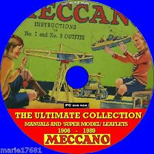 MECCANO MANUALS BUILDING KIT LEAFLETS & BIG SUPERMODEL COLLECTION 06-89 NEW DVD