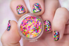 1Box Colorful Round Paillette Glitter Dust Powder Sheets Nail Art 3D Decoration