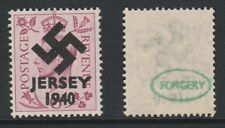 GB Jersey (274) 1940 Swastika Overprint forgey om genuine 6d stamp unmounted