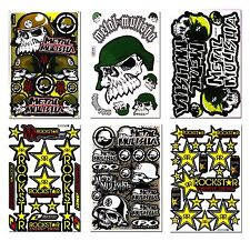 6X Metal Mulisha Rockstar Energy Motocross Motorcycle Big Bike Car Truck Decals