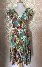 Trashy Diva Tropical Floral Dress Size 4, Perfect!