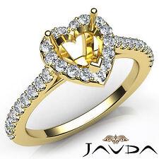 Heart Cut Diamond Semi Mount Prong Setting Engagement Ring 14k Yellow Gold 0.5Ct