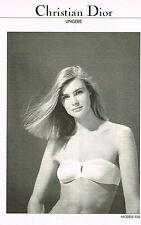 PUBLICITE  1982   CHRISTIAN DIOR  lingerie sous vetements