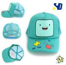 Adventure Time With Finn & Jake: BMO Beemo Face Snapback Cyan Baseball Cap hat