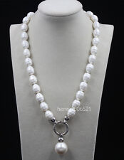 """2016 June Pearl South Sea Baroque White Shell Pearl Necklace 20"""""""