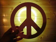 Wall Picture Plaque Art - Decoration Decor - PEACE sign with backlight TRENDING