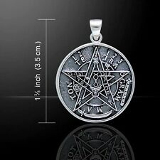 TETRAGRAMMATON Pendant .925 Solid Sterling Silver Seal of SOLOMON Magick amulet