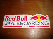 "New Red Bull Skateboarding .com Die Cut Decal Sticker 6"" wide rare"