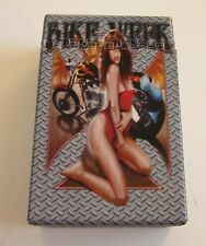 Sexy Girl/Motorcycle (BIKE WEEK) Plastic Push-To-Open King Size Cigarette Case
