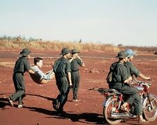 """Viet Cong Soldiers carry American POW for exchange 8""""x 10"""" Vietnam Photo 164"""