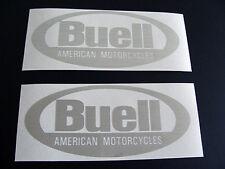 2 BUELL Aufkleber / Sticker Alu gebürstet