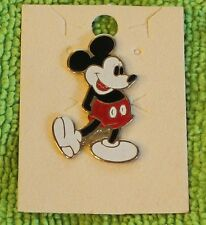 NICE VINTAGE DISNEY MICKEY MOUSE HANDS BEHIND HINGE BACK PIN 1 1/4""