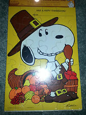 HALLMARK Vintage 1958 SNOOPY Schulz HAPPY THANKSGIVING PUZZLE GREETING CARD New