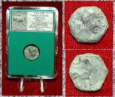 Ancient Coin CELTIC SPAIN Castula Diademed Head Bull Crescent On Reverse