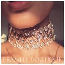 Lujoso Diamonte Cristal Oro Gargantilla Collar Cuello Towie Chic Kylie Celebridad!!!