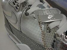 Nike Flight Squad QS, Flight 89, Metal Liquid, Metallic Silver, Ice, Size 11