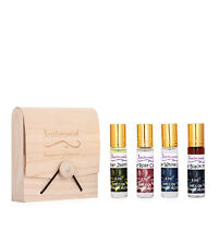 Ambrosial Gift Set 8ml-4 Attar Rose Jasmine Black Musk White Oud Natural Pure