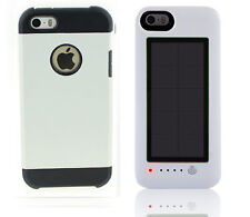 Blanco Armor Case Iphone 5 5s + Blanco Solar Power Bank de carga Banco 2600mah V3.0