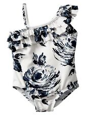 GAP Baby / Toddler Girl 4 Years / 4T NWT Floral Ruffle One-Piece Bathing Suit