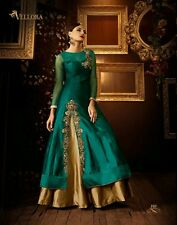designer stylish Party wear taffeta silk anarkali salwar kameez lehenga choli
