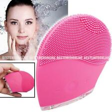 Facial Skin Lift Cleaning Electric Sonic Scrubber Silicon Brush Cleaner Massager