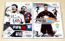 2 GIOCHI WII Set-FIFA 08 & Pro Evolution Soccer PES 2008-CALCIO FOOTBALL