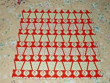 """VTG CHRISTMAS WRAPPING PAPER UNUSED GIFT WRAP 20"""" X 30"""" MCM 1960 CANDLES"""