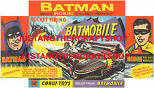 Corgi Toys 267 Batman Batmobile Small Size Poster Advert Leaflet Shop Sign 1966