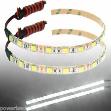 2 x Day White 15 LED Strip Lights 12V DC for Cars Caravans Boats SWB Vans 25cm