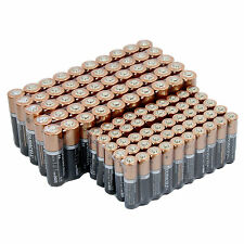 50 Duracell 1.5V AA and 50 AAA Alkaline Batteries 100 PCS Total - Exp. 2026
