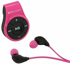Kitsound Active+ Bluetooth Wireless Sports Earphones Headphones with Mic - Pink
