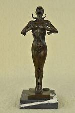 """17"""" Greek Bronze Marble Art Goddess Wisdom  Athena GOD OF WAR statue Sculpture"""